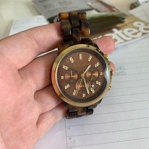 Oversized Michael Kors Tortoise Watch